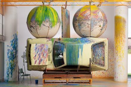 Richard Jackson, Painting with Two Balls (1997), via Orange County Museum of Art