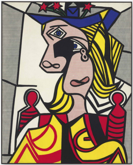 Roy Lichtenstein, Woman with Flowered Hat (1963), via Christie's
