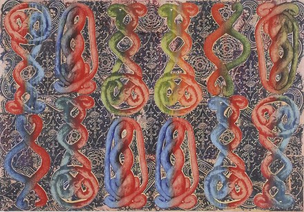 Philip Taaffe, Sardica II (2013), courtesy Luhring Augustine Gallery