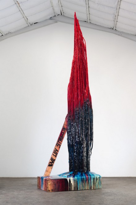 Sterling Ruby, Monument Stalagmite:WE LUV STRUGGLIN' (2013), via Hauser and Wirth