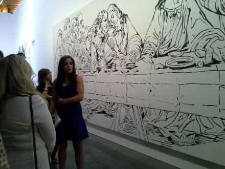 The Brant Foundation Tour Pauses in front of Warhol's Last Supper