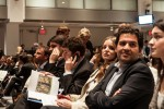 The Nahmad family and others at Sotheby's last week, via New York Times