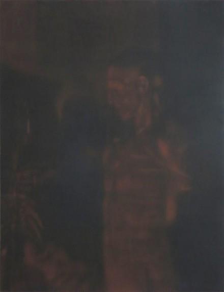 Troy Brauntuch, Red Statue (2013), via Petzel Gallery