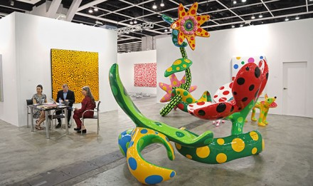 Yayoi Kusama at Victoria Miro and Ota Fine Arts, via ArtInfo