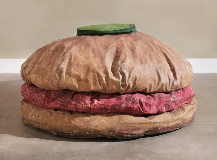 Claes Oldenburg, Floorburger, 1962. Photo: Sean Weaver, Image courtesy of MoMA