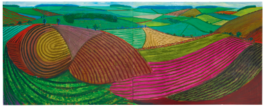 David Hockney, Double East Yorkshire (1998), via Sotheby's