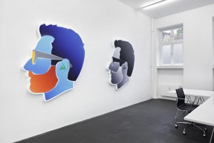 Alex Israel, Self-Portraits (Installation View), via Peres Projects