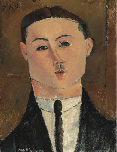 Amodeo Modigliani, Paul Guillaume (1916), via Christie's