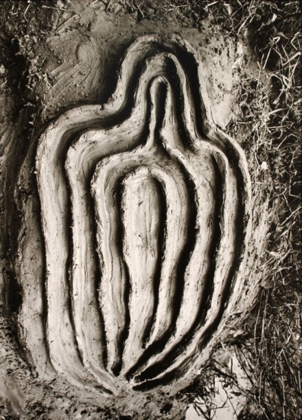Ana Mendieta, Untitled (Labyrinth of Venus Series), (1982)