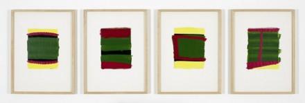 Blinky Palermo 1-4 Untitled, (1976), via David Zwirner