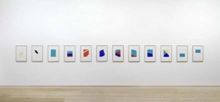 Blinky Palermo, Works on Paper (Installation View), via David Zwirner