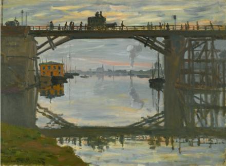 Claude Monet, Le Pont de Bois (1872), via Sotheby's