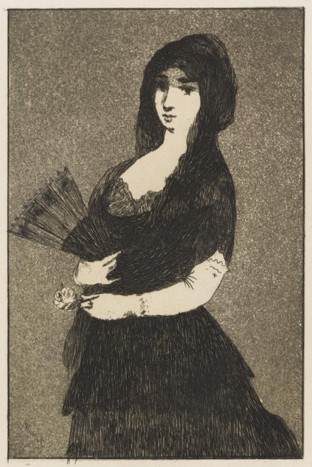 Eduoard Manet, Exotic Flower (Woman in a Mantilla)  (1868), courtesy The Frick Collection