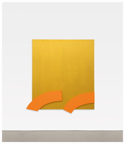 Ellsworth Kelly, Gold with Orange Reliefs (2013), via Matthew Marks Gallery