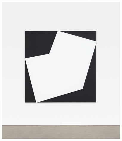 Ellsworth Kelly, White Relief Over Black (2012), via Matthew Marks Gallery