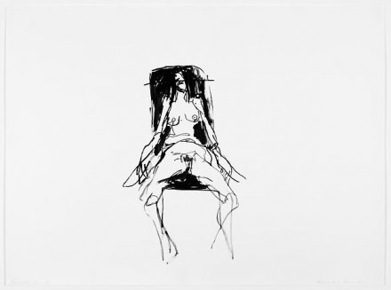 Tracey Emin, Lonely Chair Drawing V (2012), via Lehman Maupin