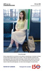 Gillian Wearing for Art on the Underground, via The Guardian