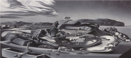 "Glenn Brown, Oscillate Wildly (after ""Autumnal Cannibalism"" 1936 by Salvador Dali) (1999), via Phillips"