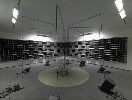 Haroon Mirza, Adam, Eve, others and a UFO (2013), via Lisson Gallery