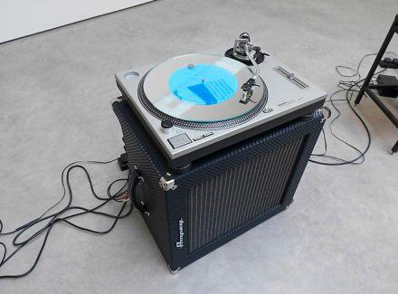 Haroon Mirza, Sitting in a Room (detail) (2013), via Lisson Gallery