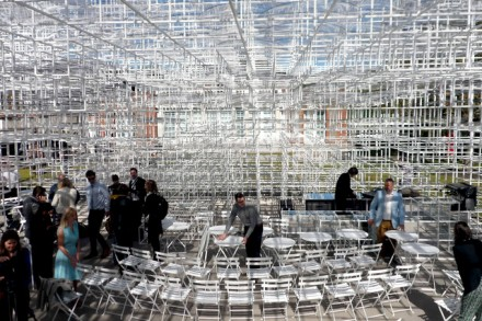 Inside the Serpentine Pavilion, via Bloomberg