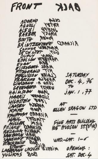 Jean Dupuy, Front/Back (1976), via Galerie Louevenbrouck