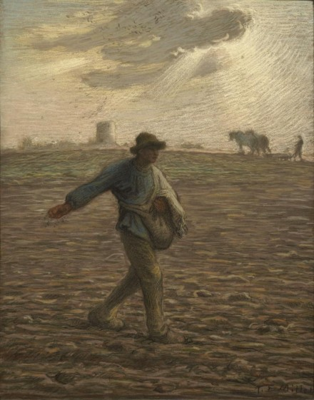 Jean-François Millet, The Sower  (1865), courtesy The Frick Collection