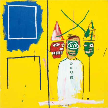 Jean-Michel Basquiat, Three Pontificators (1984), via Phillips