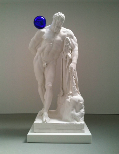 Jeff Koons, Gazing Ball (Farnese Hercules), (2013), via Daniel Creahan