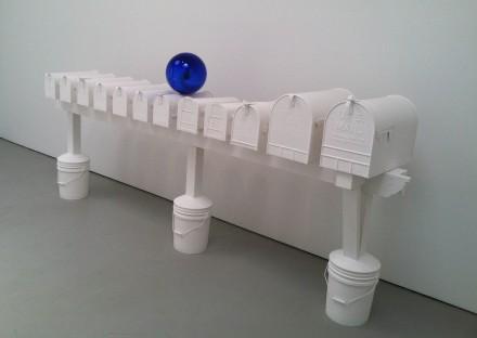 Jeff Koons, Gazing Ball (Mailboxes), (2013), via Daniel Creahan