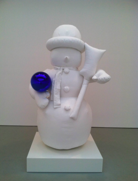 Jeff Koons, Gazing Ball (Snowman), (2013), via Daniel Creahan