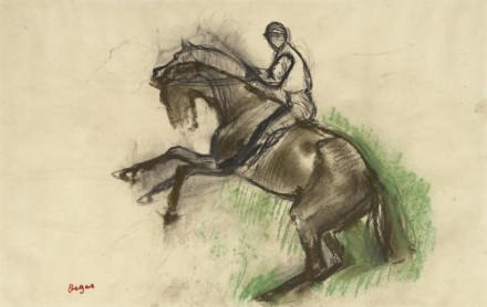Edgar Degas, Jockey on a Rearing Horse  (1890's), courtesy The Frick Collection