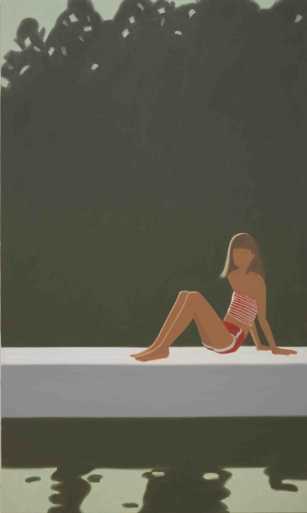 Alex Katz, Tracy on the Raft at 7:30 (1982), courtesy MdM Mönchsberg