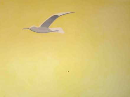 Alex Katz, Yellow Seagull (2000), courtesy MdM Mönchsberg
