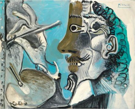 Pablo Picasso, Le Peintre (1967), via Sotheby's