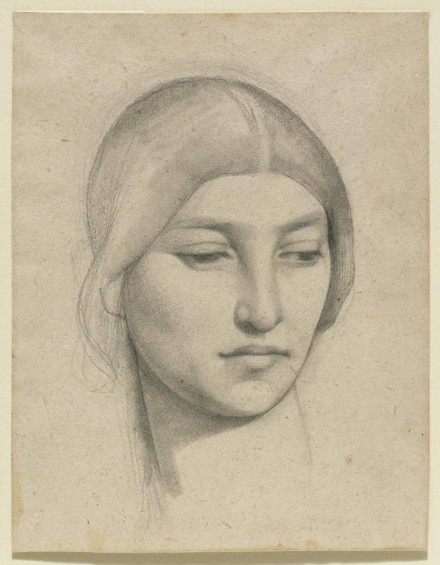 Pierre Puvis de Chavannes, Study of a Woman's Head  (1865), courtesy The Frick Collection