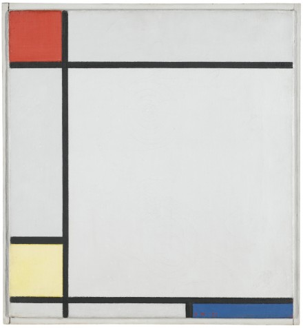 Piet Mondrian, Composition with Red, Yellow and Blue (1927), via Sotheby's