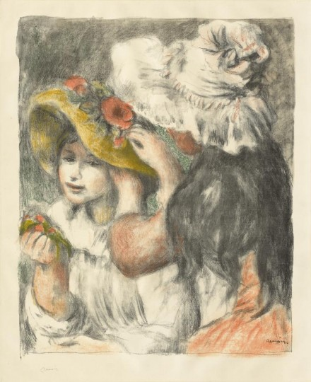 Pierre Auguste Renoir, Pinning the Hat: Second Plate (1898), courtesy The Frick Collection