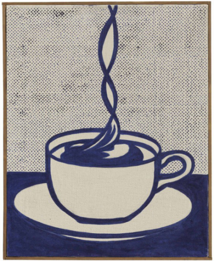 Roy Lichtenstein, Cup of Coffee (1961), via Christie's
