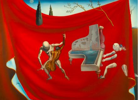 Salvador Dali, La Musique or L'Orchestre Rouge or Les Sept Arts (1957), via Sotheby's