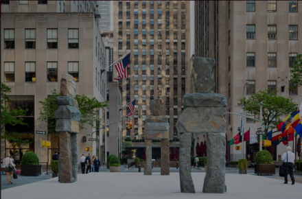 Ugo Rondinone, Human Nature at Rockefeller Center (Installation View), via Public Art Fund