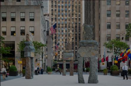Ugo Rondinone, Human Nature at Rockefeller Center (Installation View), via Public Art Fund