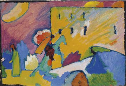 Wassily Kandinsky, Studie zu Improvisation 3 (1909), via Christie's