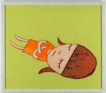 Yoshitomo Nara, Napping Girl in Green (2013), via PACE Gallery