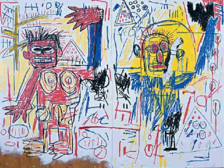 Jean Michel Basquiat, Untitled (1982), via Christie's