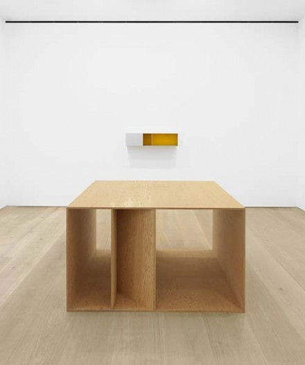 Donald Judd (Installation View), via David Zwirner