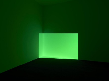 James Turrell, Acro, Green, (1968), projected light, the Museum of Fine Arts, Houston, Museum purchase. © James Turrell