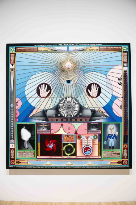 Paul Laffoley, The World Self (1967), (Installation view 'Alternative Guide to the Universe'), Courtesy Hayward Gallery 2013, © the artist, Photo: Linda Nylind