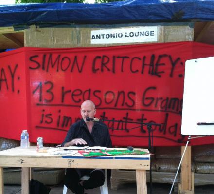 Philosopher Simon Critchley Lectures Gramsci Monument, via Daniel Creahan
