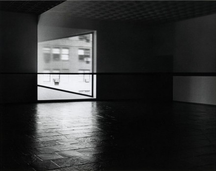 Robert Irwin, Black Rectangle - Scrim Veil - Natural Light (1977), via The Whitney